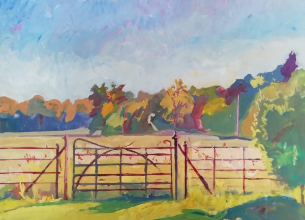 Into the long grass – Gouache on paper 55 x 75 cms